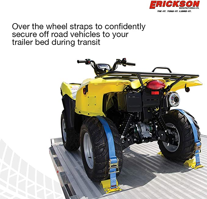 Erickson 06304 1-Inch x 18-Inch Motorcycle//ATV Tie-Down Assist Strap Red