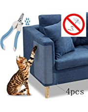 """Maimuxi Cat Scratch Guard Furniture Protectors(Set of 4),Stop Cat Scratching for Couch, Door,Other Furniture and Car Seat.(18"""" L x 8"""" W). Come with Cat Nail Scissors."""