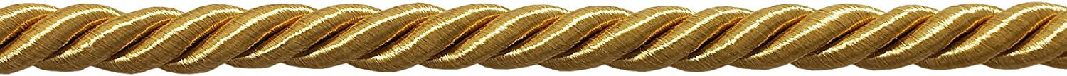 Basic Trim Collection 12 Yard Package of 3//8 inch Large Gold Color Decorative Cord Style# 0038NL Color: C4 36 Ft. // 11m