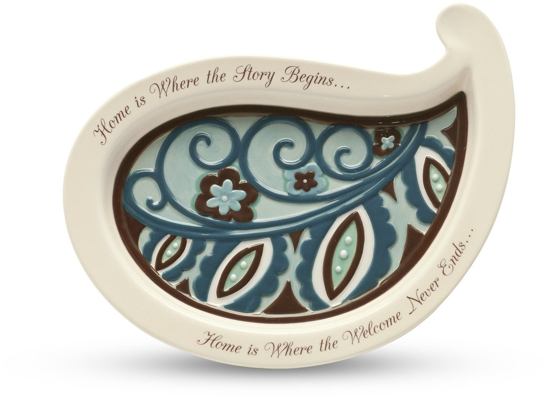 Perfectly Paisley 8-1/2-Inch Serving Plate, Home