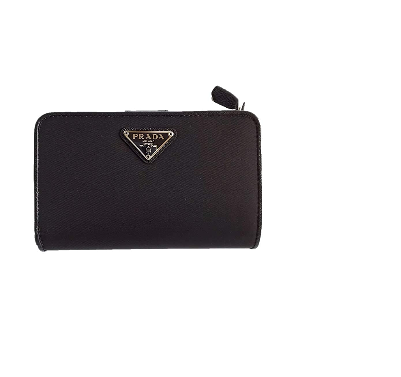(プラダ) PRADA 二つ折り 財布 ナイロン 1ML225 PORTAFOGLIO LAMPO ブラック [並行輸入品] B07JN7LXDF