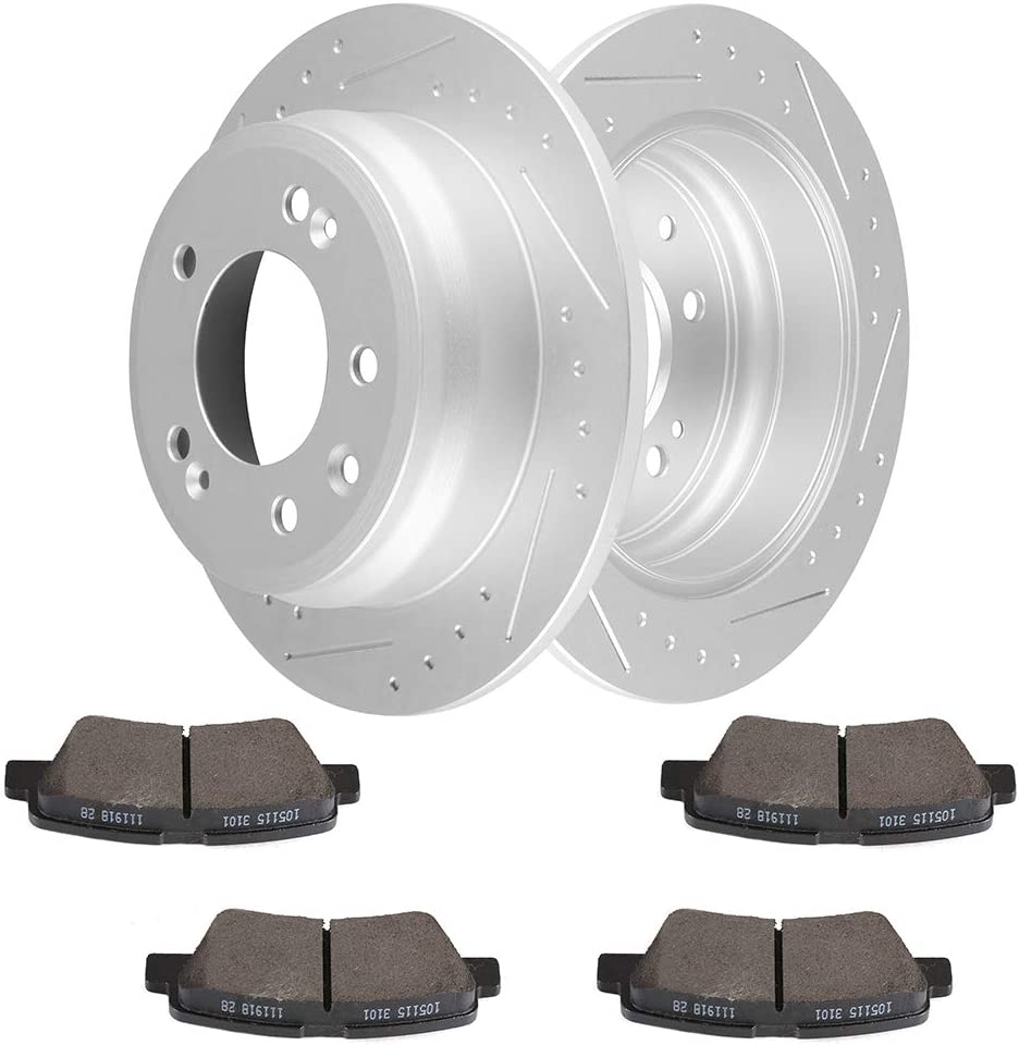 2011 2012 2013 Fit Kia Sportage AWD OE Replacement Rotors w//Metallic Pads R