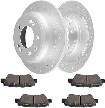 Front And Rear Brake Disc Rotors For 2011 2012 2013 Hyundai Tucson Kia Sportage