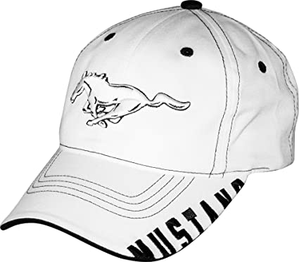 97acafe6cf22b Amazon.com  Mustang Running Horse White and Black Hat  Automotive