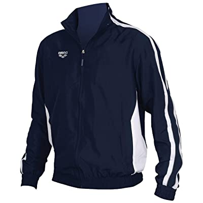 arena Tribal Youth Warm Up Jacket (Navy/White, Medium)