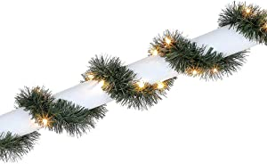 Home Accents Holiday 50 ft. Pre-lit Artificial Christmas Roping Garland with 200 Incandescent Clear Lights