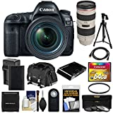 Canon EOS 5D Mark IV 4K Wi-Fi Digital SLR Camera & 24-70mm f/4L is USM + 70-200mm f/2.8L Lens + 64GB Card + Battery & Charger + Case + Filters + Tripod Kit Review
