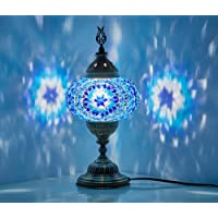 (10 Colors) Turkish Moroccan Handmade Mosaic Tiffany Table Desk Bedside Lamp Lampshade for AU Use with AU Plug & AU…