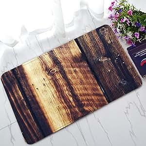 Custom rústico viejo granero madera Art Home Fashion Home decoración de suelo, alfombra antideslizante para interiores/al aire libre Felpudo
