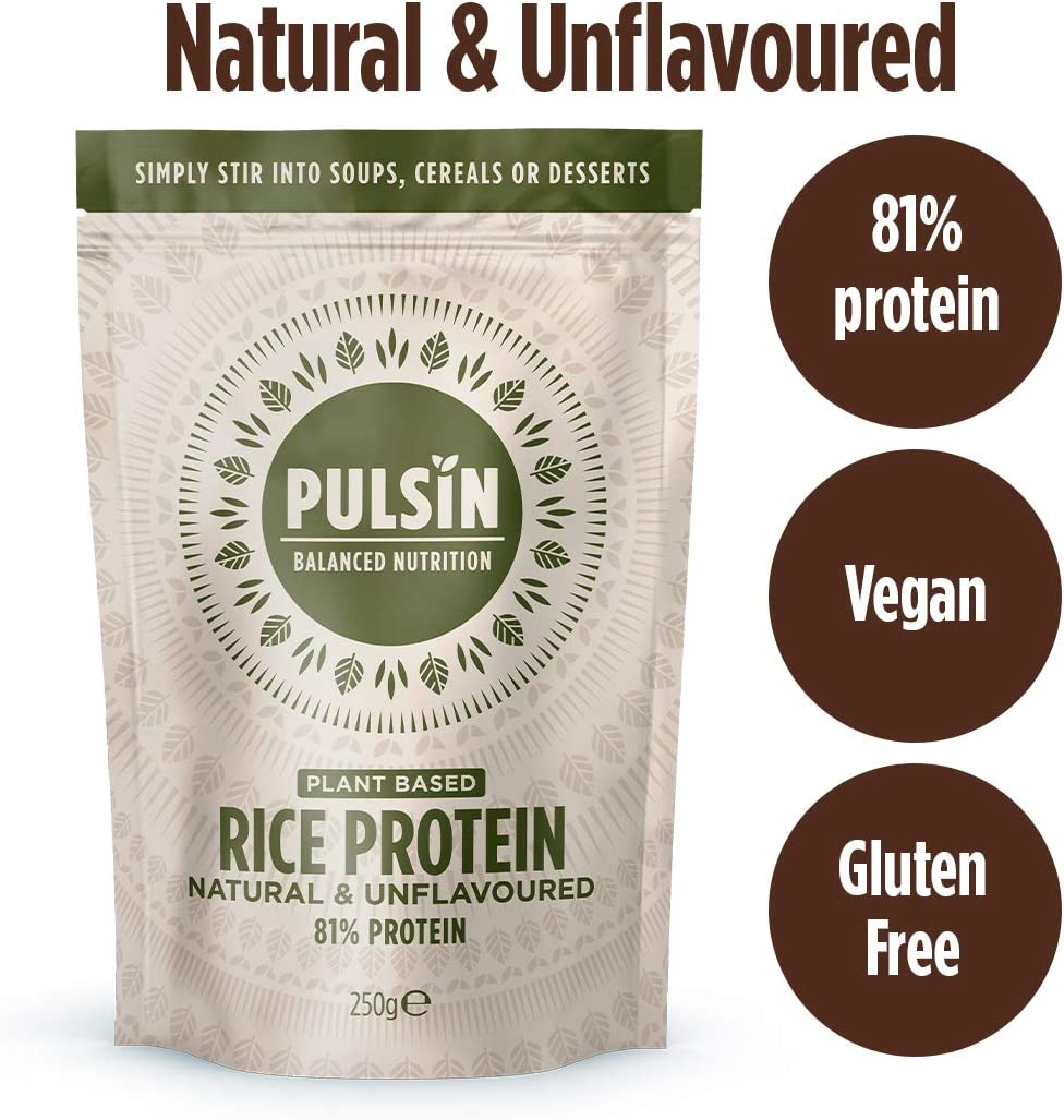 Pulsin' Protein Concentrate, Rice, 0.58 Pound: Health & Personal Care