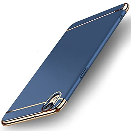 san francisco 6a58b 81e0d MOBICLONICS® 3in1 Hybrid Hard Back Cover Electroplating Case for Oppo  A37-Blue