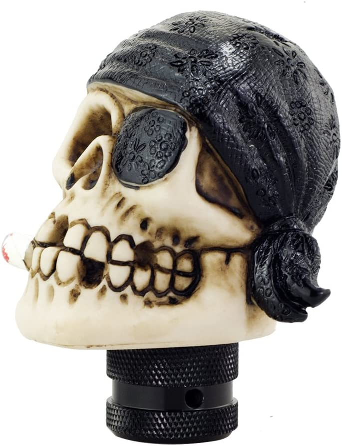 Mavota Sliver Pirate Skull Manual Automatic Gear Shift Knobs