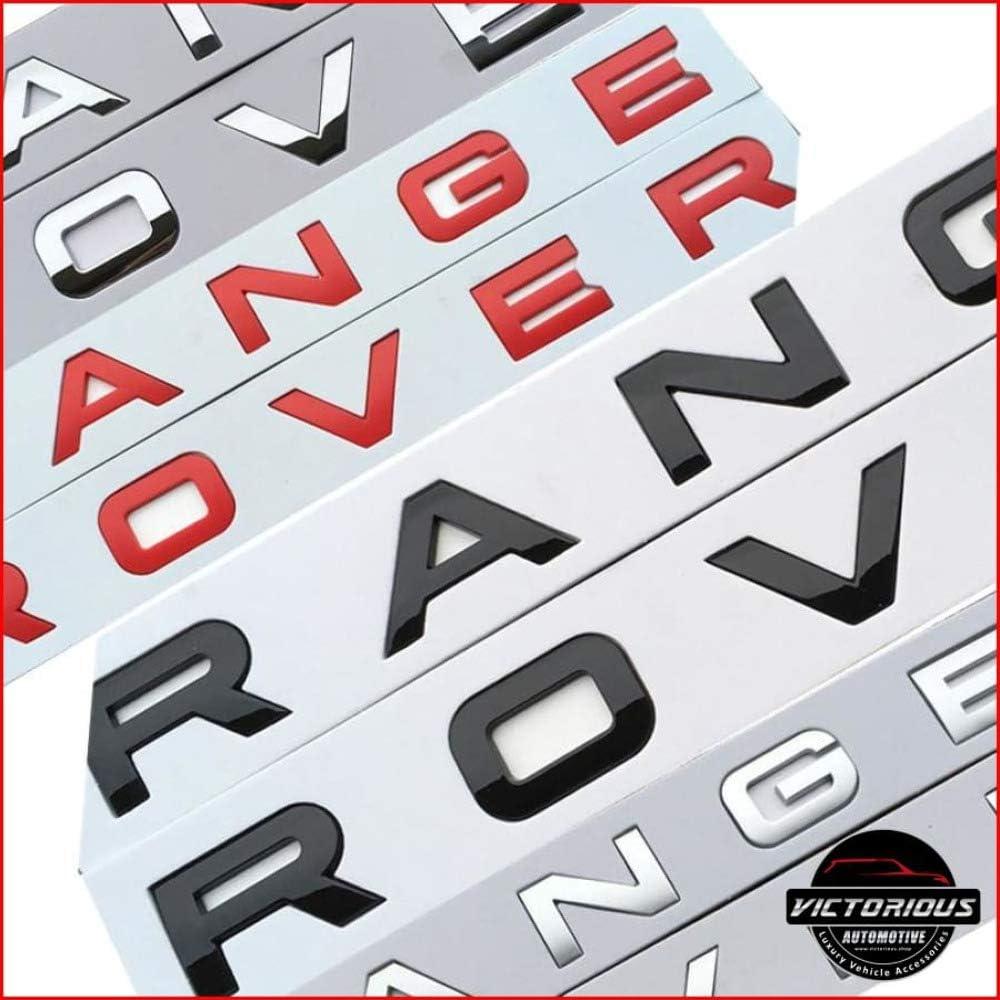 Velar Evoque Lettering for Front or Back Red Vogue RangeRover Sport