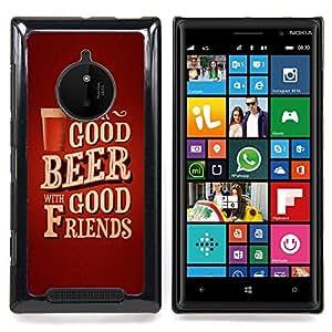 - Drink Beer Friends Brown Poster Text - - Monedero pared Design Premium cuero del tir???¡¯???€????€???????????&