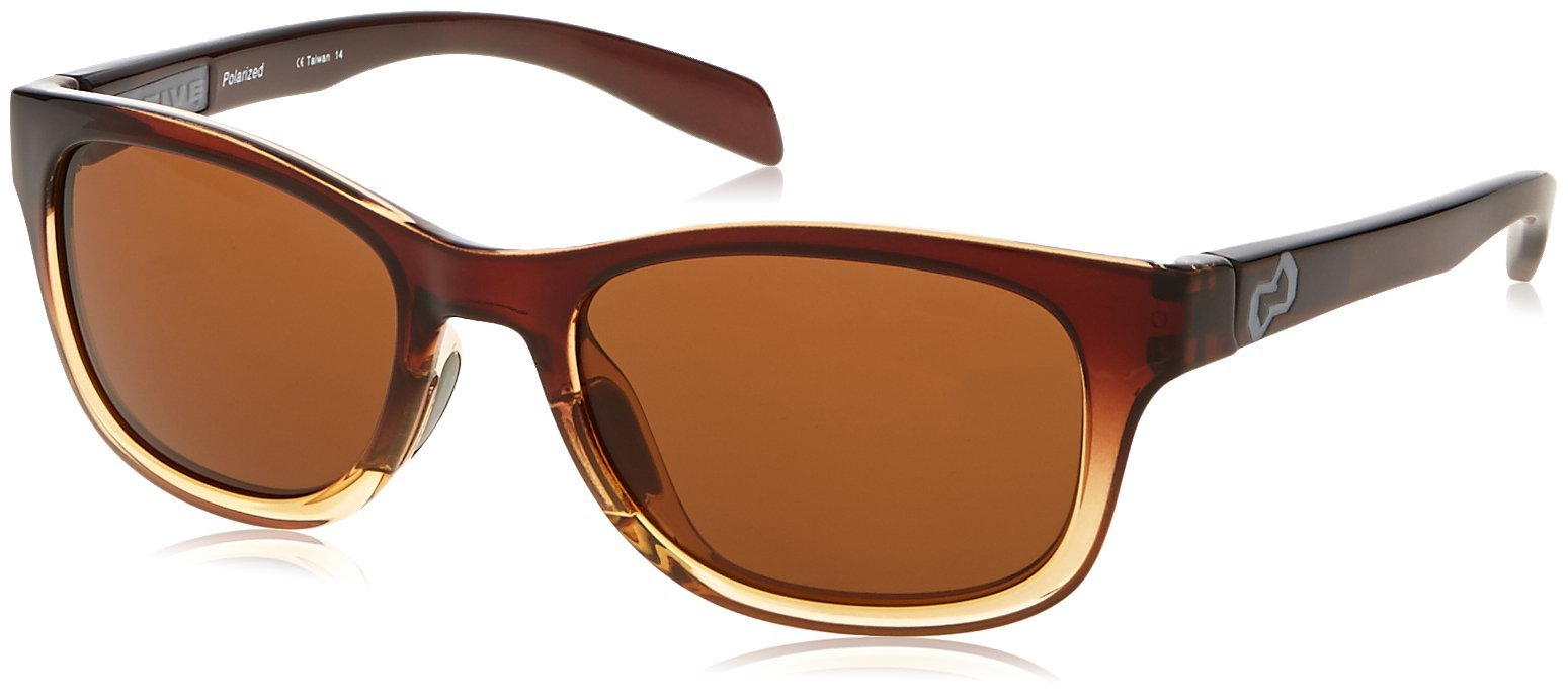 Native Eyewear Highline Polarized Sunglass, Stout Fade and Iron Temple Frame/Brown Lens