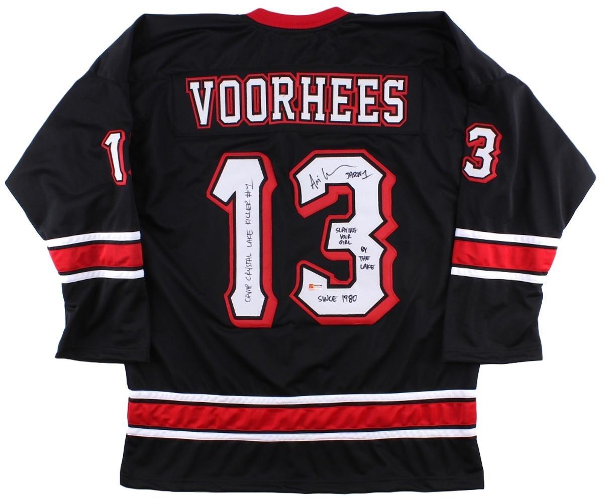 Ari Lehman Signed Custom Jason Vorhees Hockey Jersey 3 Inscriptions...
