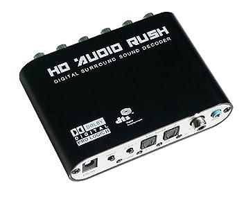 Luzan 5.1 Audio Fiebre Digital Sound Decoder Convertidor óptico SPDIF coaxial Dolby AC3 DTS (R