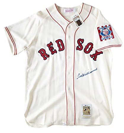 quality design c7d52 82670 Ted Williams Signed Red Sox Authentic Mitchell & Ness ...