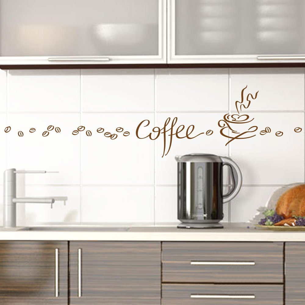 Grandora Sticker Mural Tasse de café 1045w - Marron, ensembles Creative