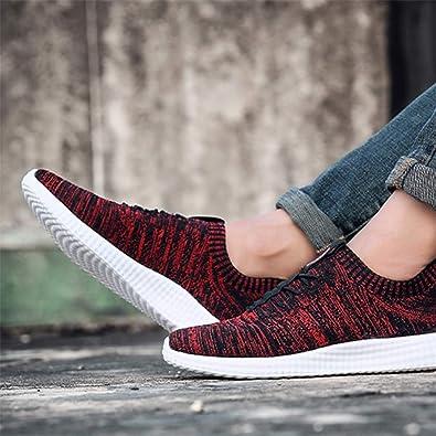 Zapatillas Hombre Running Casual Sneaker Moda Mesh Knit Zapatos de ...