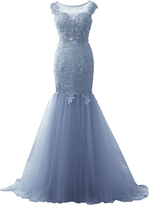 Prom Dress Evening Gown Lace Long Mermaid Prom Dresses for Party Formal Evening Dress