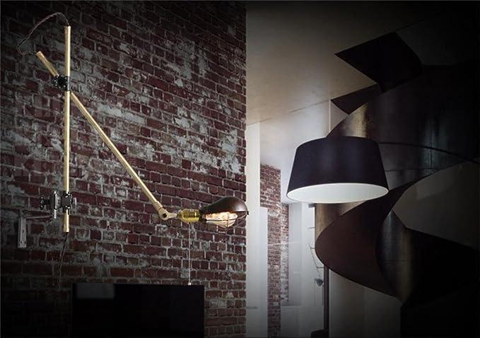 Retro minimalista industria creativa applique da parete con