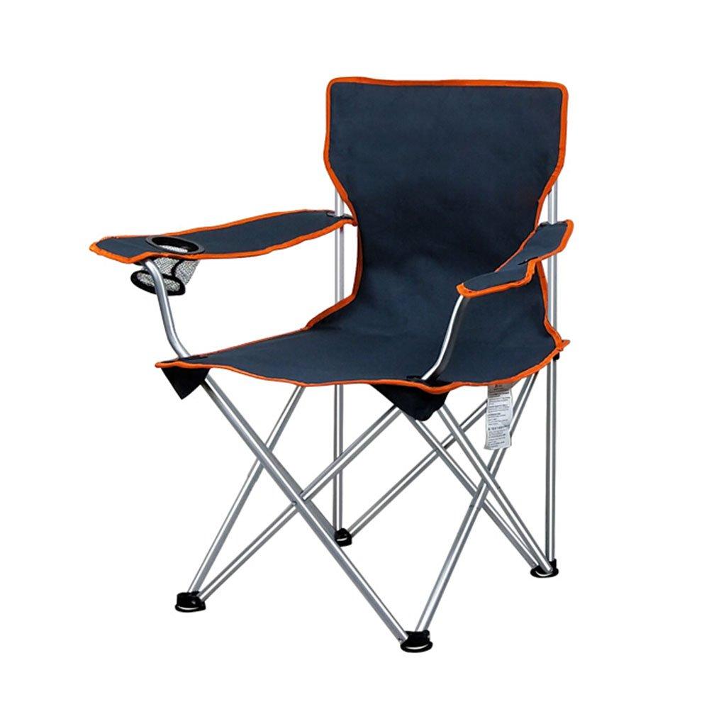 ベンチ ポータブル屋外キャンプ折りたたみチェアビーチバックレスト釣りラウンジチェア耐荷重120KG (A++) (色 : オレンジ) B07DLVFHBP オレンジ オレンジ
