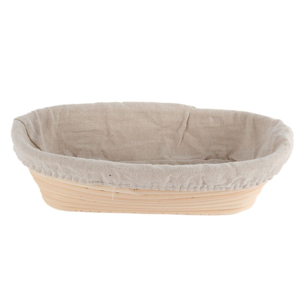 ESHOO Oval Dough Banneton Brotform Dough Rattan Bread Proofing Proving Baskets