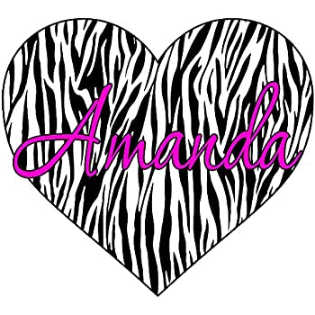 Amazon.com: Hot Pink Radial, Zebra Print Heart Wall Decals ...