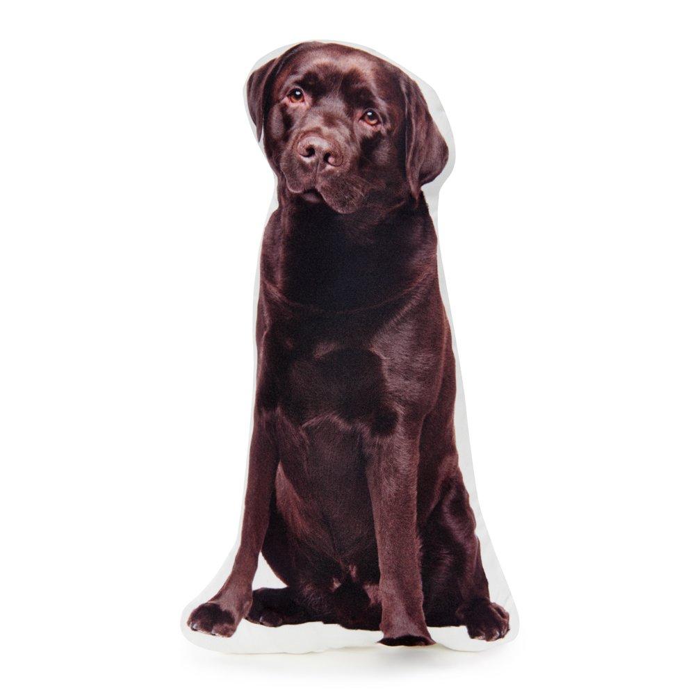 Cushion Co - Chocolate Labrador Retriever Dog Shaped Pillow 16'' x 12''