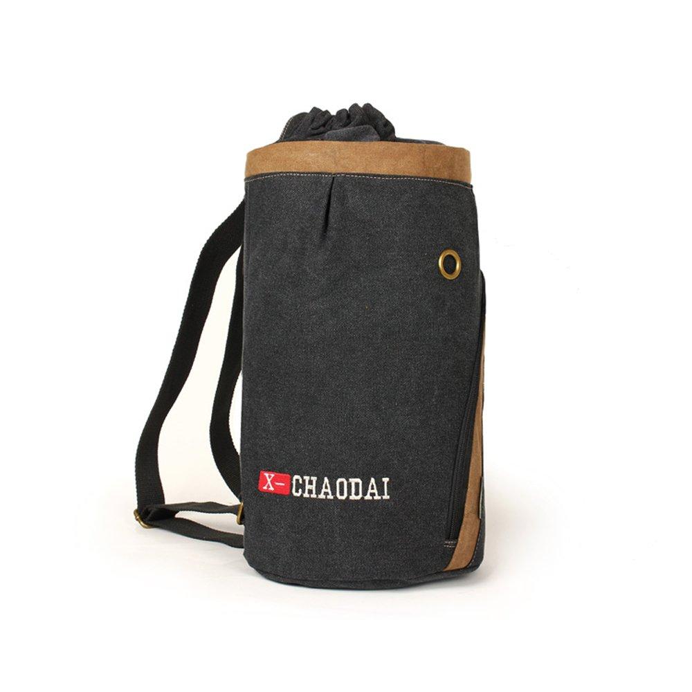 アウトドアスポーツメンズ登山バックパック多機能、Wearキャンバスバッグレジャー旅行リュックサック、通気性と快適なナップサック(カーキ/ブラック)  ブラウン B0792Y2L2W