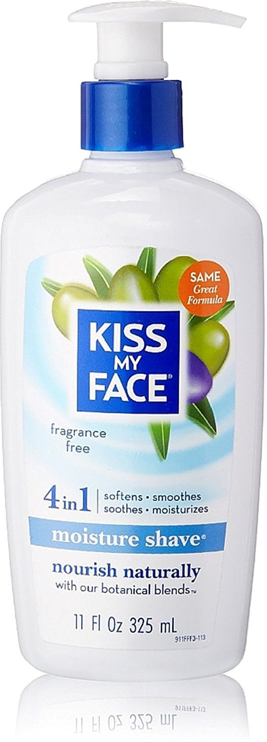 Kiss My Face 4 in1 Moisture Shave, Fragrance Free 11 oz (Pack of 11) by Kiss My Face