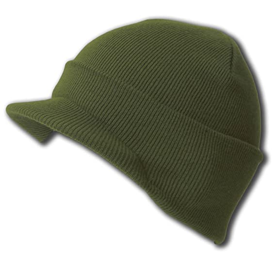 NEW CUFF DARK OLIVE GREEN Beanie Visor Skull Cap HAT at Amazon Men s ... eca6e268d1a