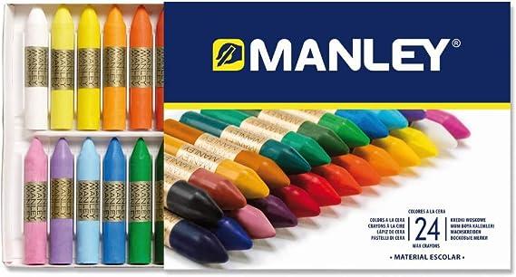 Manley 124 - Ceras, 24 unidades: Amazon.es: Oficina y papelería
