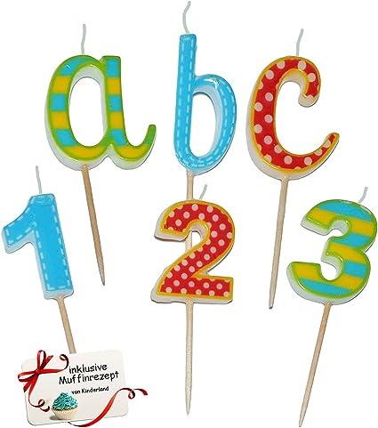 Kerzen Geburtstagskerzen Geburtstagsdeko Tischdeko Kindergeburtstag Partydeko