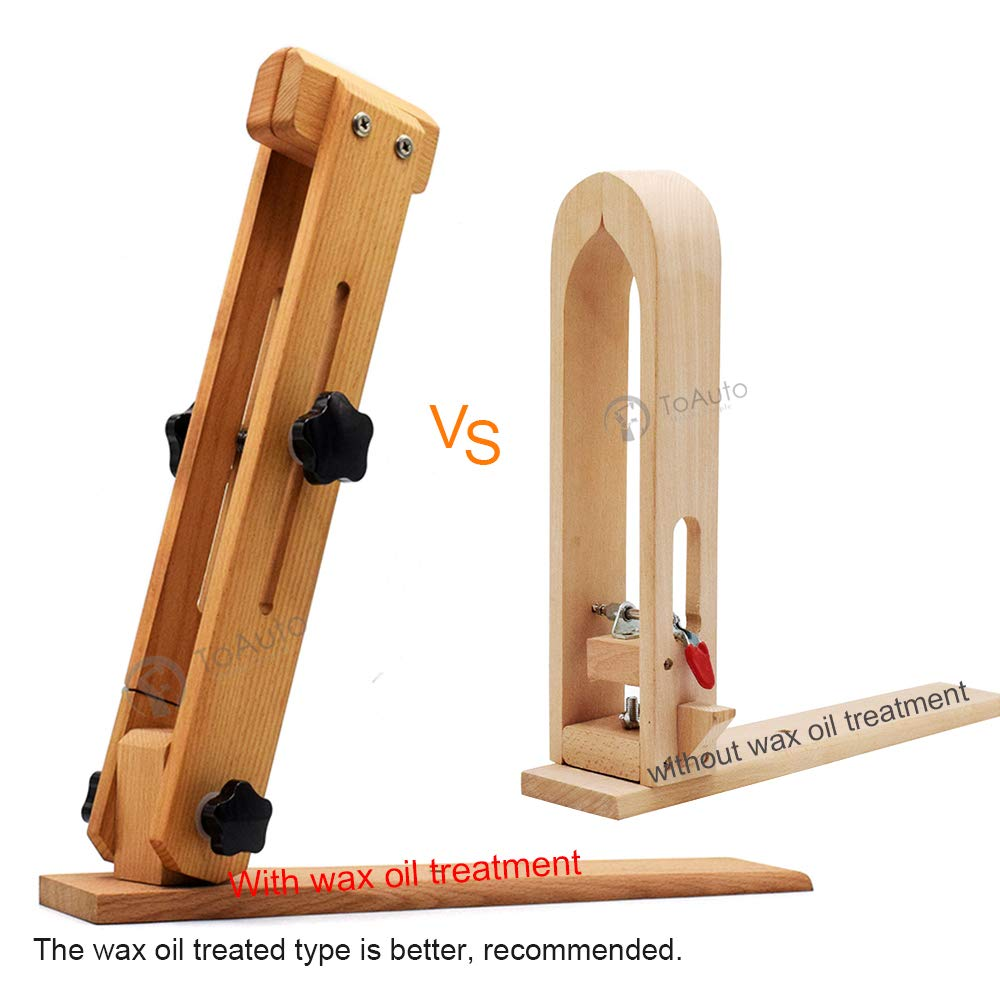 45cm Leather Pony Adjustable Improved Wooden Sewing Pony Horse Table Desktop Pony Horse Clamp for DIY Hand Stitching Leather Clamping