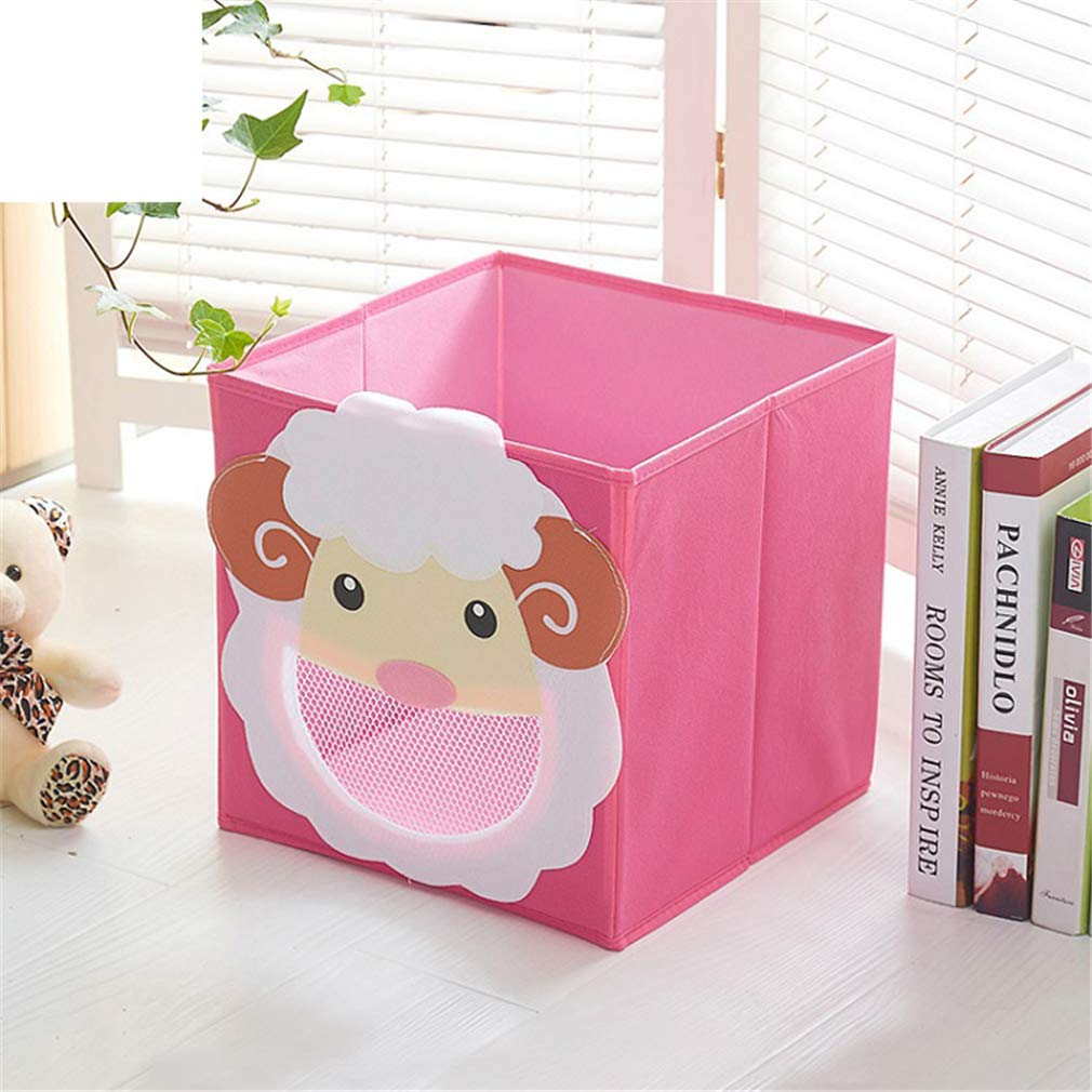 VADOLY 3D Cartoon Non-Woven Fabric Children Toy Box Animal Embroidery Pattern Foldable Clothes Storage Boxs Underwear