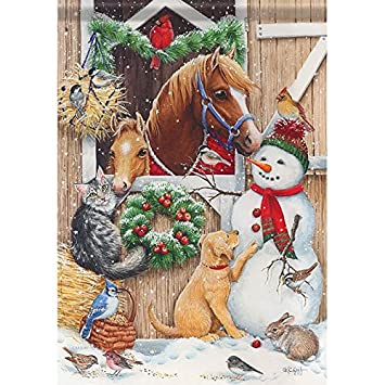 Stable Friends Horse Cat Snowman Dog Christmas 28