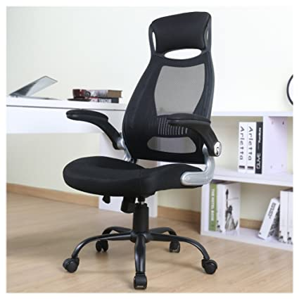 OWLN Ergonomic High Back Mesh Office Chair With Adjustable Armrest Swivel Computer Task