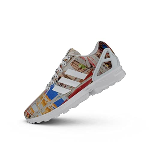 bf393cfbb Adidas - ZX Flux - S75492 - Color  Blue-White-Yellow - Size  8.5 ...