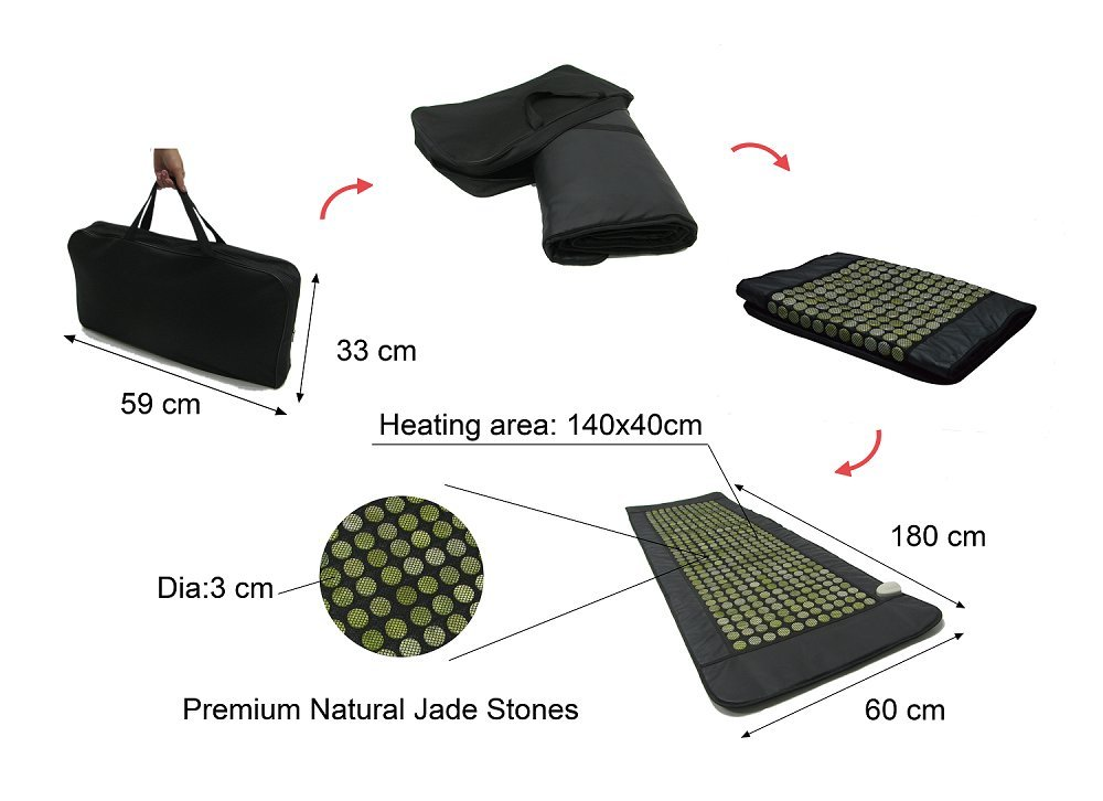 UTK Far Infrared Natural Jade Heating Pad for pain relief, Large Full Body Size(24''x 70'') by UTK (Image #5)