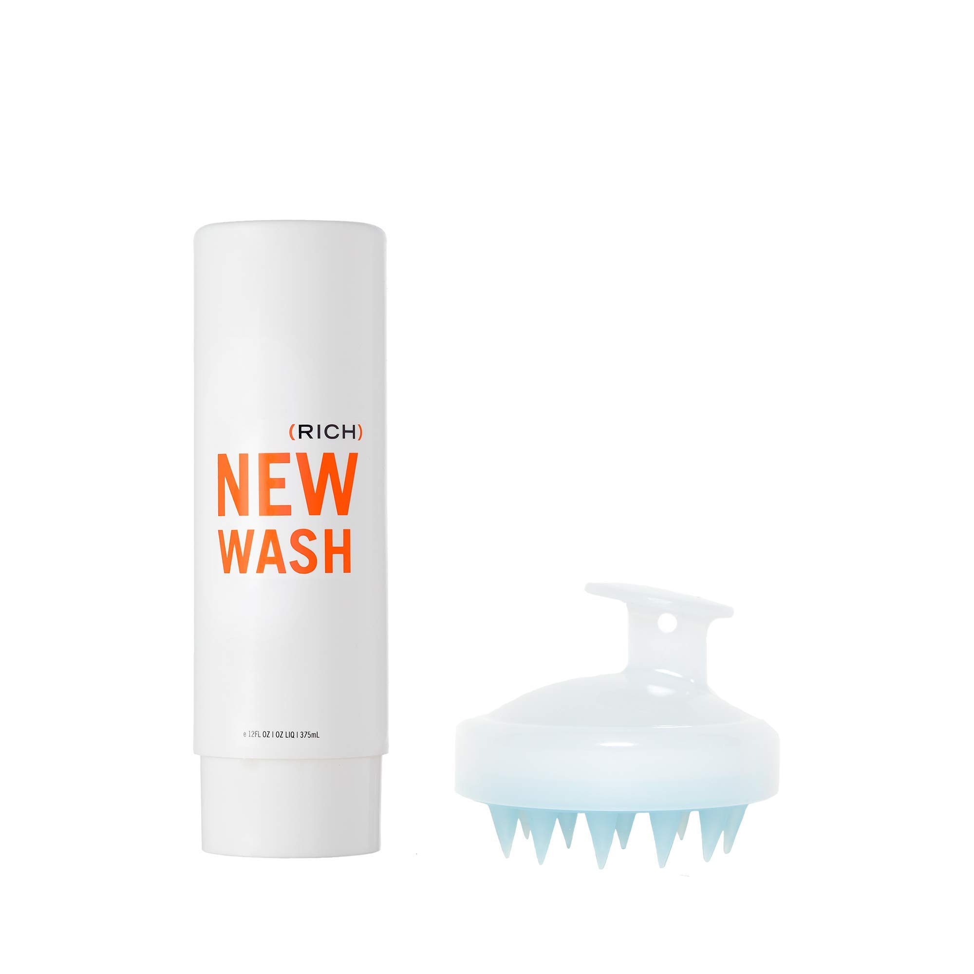 New Wash (RICH) Hair Cleanser 8oz + Scalp Brush - Extra Moisturizing cleanser & conditioner by Hairstory