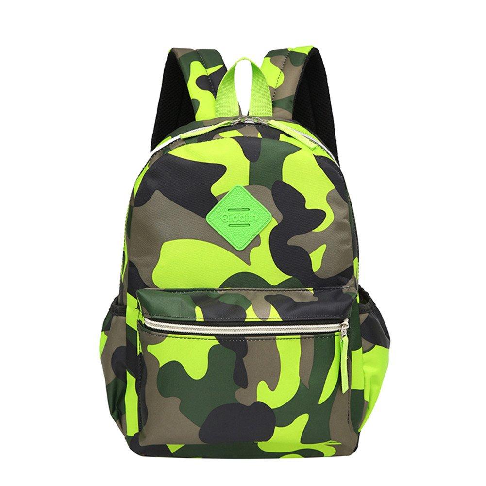 TeMan Kids Backpack Kindergarten Cartoon Schoolbag (Green Camo) by TeMan (Image #2)