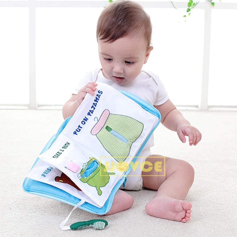 Luerme Doux premier livre de b/éb/é non toxique tissu b/éb/é tissu livres livres /éducation pr/écoce 3D livre de tissu st/ér/éo illumination enfant pr/écoce enseignement anti-larme jouet /éducatif