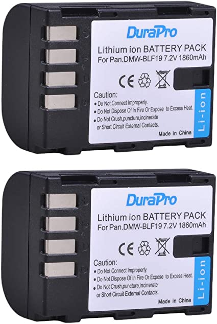 Durapro 2packs 1860mah Dmw Blf19 Dmw Blf19e Akku Elektronik
