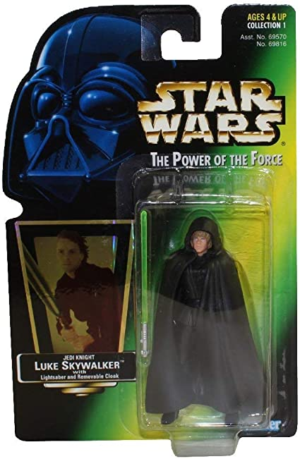 Amazon Com Star Wars Power Of The Force Green Card Luke Skywalker Jedi Knight Action Figure Toys Games