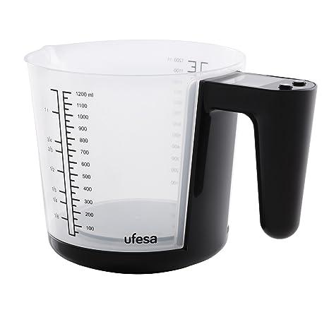 Ufesa BC1400 BC1400-Báscula de Cocina, Capacidad: 3 Kg, Precisión: 1