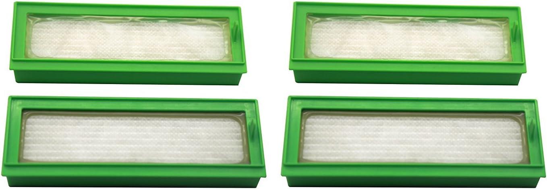Green Label Pack de 4 Filtros HEPA para Aspiradoras Vorwerk Kobold VR200: Amazon.es: Hogar