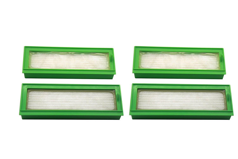 Confezione da 4. Filtri HEPA per gli aspirapolveri Vorwerk Kobold VR200, Vorwerk Folletto VR200. Prodotto genuino da Green Label