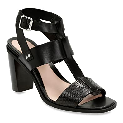 Womens Sandals Clarks Image Crush Black Leather